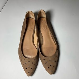 Corso Como Perforated Tan Leather Flat Size 10